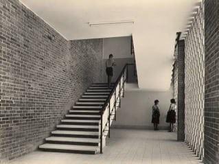 גימנסיה ראשון לציון, אדריכלים אבא וחנה אלחנני, ישראל לוטן, אוסף אבא אלחנני, ארכיון אדריכלות ישראל